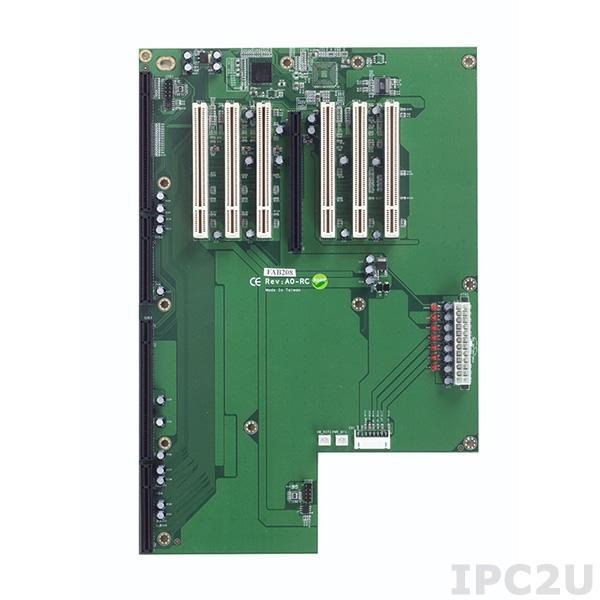 FAB208-RC Объединительная плата PICMG 1.3, 6 слотов PCI, 1xPICMG, 1xPCIex16