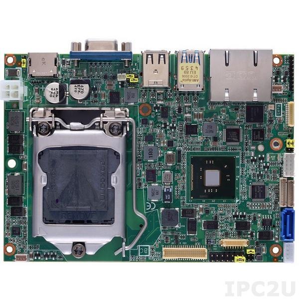 """CAPA880VHGGA-H81 Процессорная плата формата 3.5"""" с сокетом LGA1150 для 4th gen Intel Core i7/i5/i3/Celeron, чипсет Intel H81, DDR3, VGA/LVDS/2xHDMI, 2xLAN, 1xCOM, 6xUSB, Audio"""