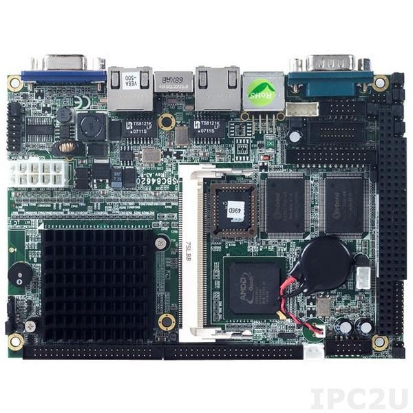 "SBC84620VEE-500 Процессорная плата формата 3.5"" с AMD LX800 500МГц, VGA, 2xLAN, Audio, 2xCOM"