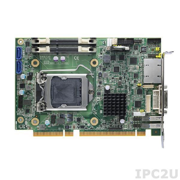 SHB230DGGA Процессорная плата PICMG 1.3, Socket LGA1150, Intel Core i7/i5/i3, Intel QM87, 2x204-pin DDR3-1333/1600 SO-DIMM, 1xCFast, 2xSATA-6Gb, 2xRS-232/422/485, 1xPCIe x16, 1xPCIe x4 or 4 PCIex1, 4xUSB 2.0, 1xDVI-I, 1xLVDS, 2xGbe LAN, 2xPS2, Audio