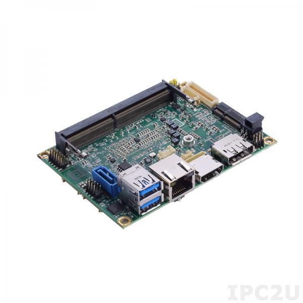 PICO52RHPGG-i3-8145UE w/fan Процессорная плата Pico-ITX с процессором Intel Core i3-8145UE 2.2ГГц с кулером, DDR4, HDMI/DP/LVDS, 2xGbE LAN, 2xCOM, 2xUSB 3.0, 2xUSB 2.0, 12VDC-in