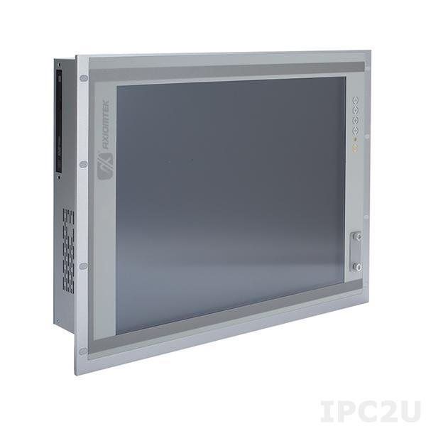 "P1197E-500-US w/PCI Панельная рабочая станция с 19"" TFT LCD, резистивный сенсорный экран, Intel Core i7/i5/i3/Pentium/Celeron (LGA1151), Intel H110, 2xDDR4 DIMM, 1x3.5"" SATA HDD (или 1x2.5""), 4xCOM, VGA, HDMI, DP, 6xUSB, 2xLAN, 1xPCI, Аудио, адаптер питания 100-240В AC"