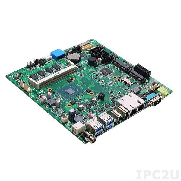 MANO311HGGA-N3350 Процессорная плата Mini-ITX SBC, процессор Intel Celeron N3350 1.1 GHz, 1x204-pin DDR3L-1867 SO-DIMM до 8 Гб, 1xSDXC, 1xPCI x1, 1xMini PCIe, 1xSIM, 1xPS/2, 6xCOM, 1xSATA-600, 6xUSB, 2xHDMI, 1xLVDS, 2xLAN, Audio