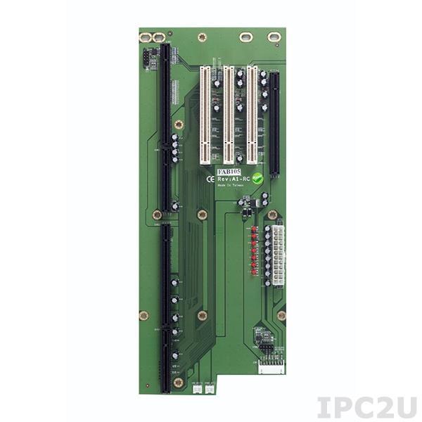 FAB105-RC Объединительная плата PICMG 1.3, 5 слотов, 1xPICMG, 1xPCIex16, 3xPCI