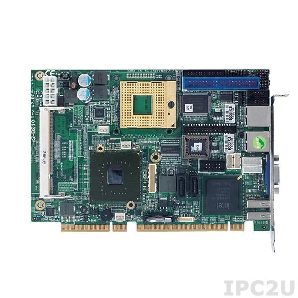 SHB210VG Процессорная плата PICMG 1.3, Socket M, Intel Core 2 Duo/Celeron M, Intel 945GME + ICH7M-DH, 2x 200-pin SO-DIMM DDR2-533/667, 1x VGA, 1x LVDS, 2x SATA-150, 1x CompactFlash, 1x IDE, 1x FDD, 2x PS/2, 1x LPT, 2x COM, 6x USB 2.0, 1xGbit LAN, Audio