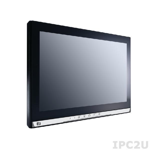 "GOT-5153W-834-FR-J Безвентиляторный панельный компьютер с 15.6"" WXGA дисплеем, резистивный экран, Intel Celeron J1900 2.0ГГц, 1x 204-pin DDR3L, отсек 2.5"" SATA HDD, 1xCFast, 2x COM, 4x USB, 2xLAN, Аудио, VGA, 2x PCle Mini Card, ИП 12В 60Вт AC DC"