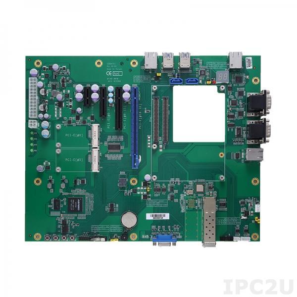 CEB94701 Базовая плата для установки процессорных модулей COM Express Type-7 с VGA, 1x10/100/1000 LAN, 2x10GBASE-KR (SFP+) LAN, 2xCOM, 4xUSB 3.0/2.0, GPIO, 2xSATA-600, 2x полноразмерные PCIe Mini, 1xPCIe x16, 1xPCIe x8, 1xPCIe x4, 1xPCIe x1, I2C