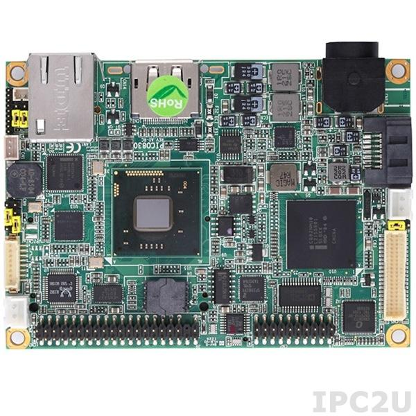PICO830VGA-N2600 w/acc Процессорная плата PICO830 с процессором Intel Atom N2600 1.6ГГц, чипсет Intel NM10, VGA/LVDS, Gigabit Ethernet, Audio, 2xCOM, 4xUSB, с аксессуарами AX93265, радиатор, кабели