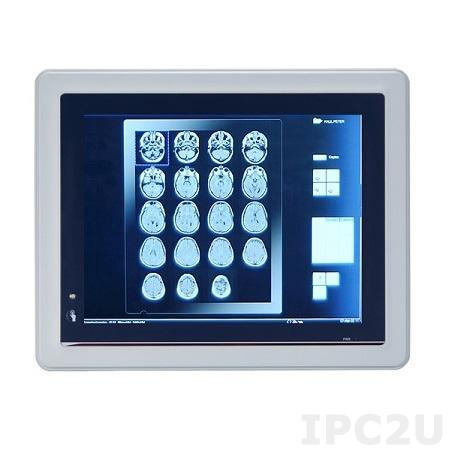 "MPC152-845-J Безвентиляторная медицинская панельная рабочая станция 15"" TFT LCD, Intel Celeron N3060 1.60 ГГц, 1x 204-pin DDR3L SO-DIMM до 8 Гб, резистивный сенсор, 1x 2.5 SATA HDD, 1xmSATA, 2xCOM, 4x USB 2.0, 2xLAN, Audio, питание 100-240 В AC-DC 65 Вт"