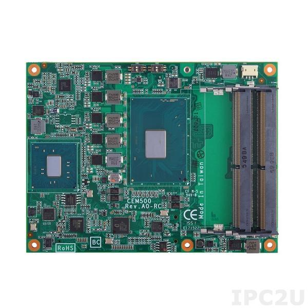 CEM500PG-i3-6100E+QM170 Процессорная плата COM Express Type 6 с Intel Core i3-6100E 2.7, чипсет QM170, DDR4, DDI/LVDS, GbE LAN, 2xCOM, 4xUSB 3.0, 8xUSB 2.0, TPM, 4xSATA-600, 1xPCIe x16, 8xPCIe x1