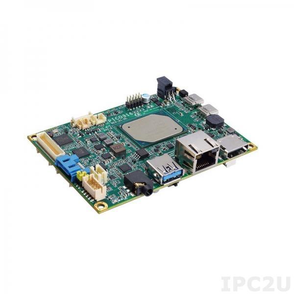 PICO317HGA-E3940 Процессорная плата Pico-ITX, Intel Atom x5-E3940 1.6ГГц без радиатора охлаждения, DDR3L, HDMI, LVDS, 1xGbE LAN, 2xCOM, 3xUSB 3.0, 2xUSB 2.0, SATA-600, PCIe Mini, -40...+70C