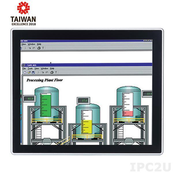 "GOT-3177T-311-FR Безвентиляторный панельный компьютер 17"" SXGA, резистивный сенсорный экран 350 нит, Intel Pentium N4200 1.6ГГц, 1x204-pin DDR3L-1333/1600 SO-DIMM до 8ГБ, 1x 2.5"" SATA HDD, 1xmSATA, 4xCOM,4xUSB, 2xLAN, 2xPCIe Mini, Аудио, питание DC"