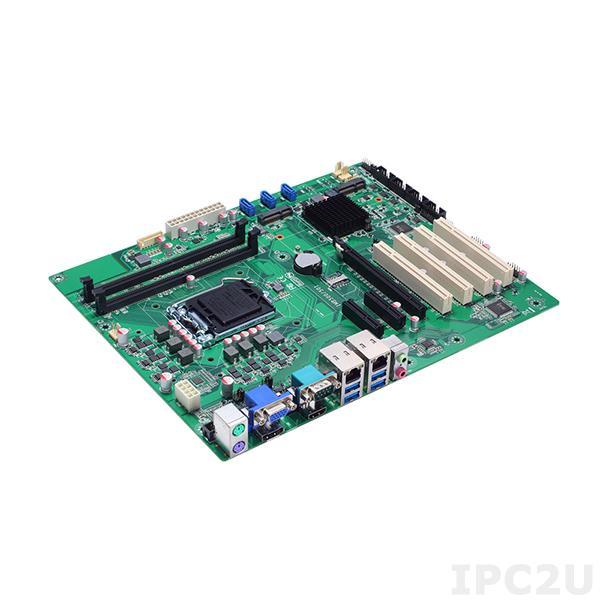 IMB501VHGGA Процессорная плата ATX Socket LGA1151 Intel Core i7/i5/i3/Celeron, Intel H110, 2x288-pin DIMM DDR4, 6xCOM, 4xUSB 3.0, 4xUSB 2.0, 2xGbE LAN, Display Port, HDMI, VGA, 3xSATA-600, mSATA, 1xPCIe x16, 2xPCIE x4 (x1), 4xPCI, 1xMini-PCIe, 1xSIM