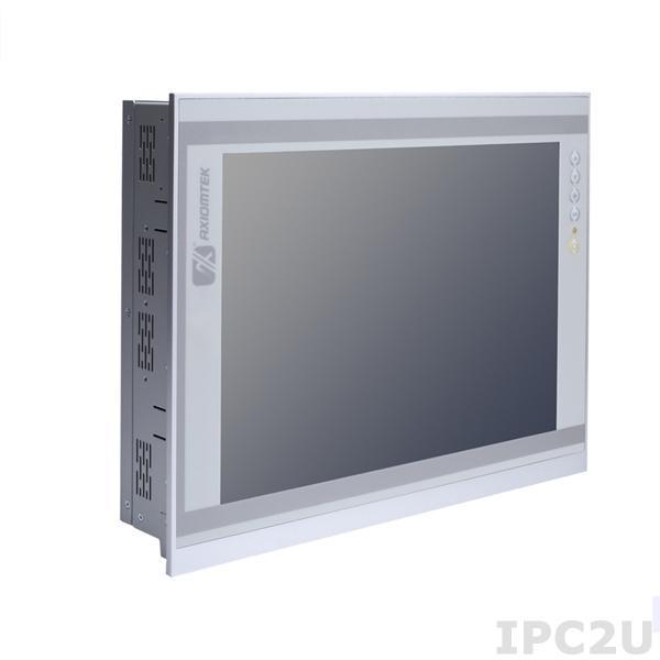 "P1177S-881 Панельная рабочая станция с 17"" TFT SXGA LCD, сенсорный экран, LGA1150 для Intel Core ii7/i5/i3/Celeron, резистивный сенсорный экран, 2x204-pin DDR3, 1x3.5"" or 2x2.5"" HDD, 4xCOM, VGA, HDMI, 2xUSB 3.0, 4xUSB 2.0, 2xLAN, БП 200W 100-240В AC"