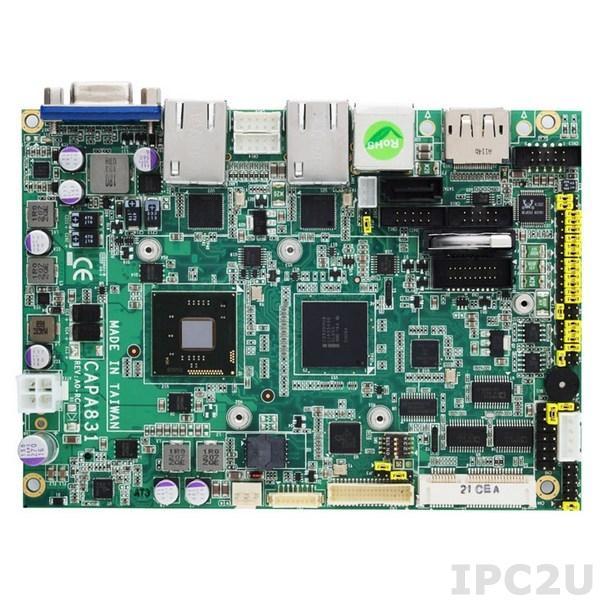 """CAPA830VHGGA-D2550-ZIO Процессорная плата формата 3.5"""" с Intel Atom D2550 1.86ГГц, чипсет Intel NM10, DDR3, VGA/LVDS/HDMI, 2xLAN, 2xCOM, 6xUSB, Audio, ZIO модуль AX93262"""