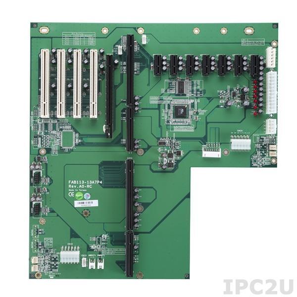 FAB113-13A7P4-RC Объединительная плата PICMG 1.3, 13 слотов, 1xPICMG 1.3, 7xPCIex1, 4xPCI , 1xPCIex16