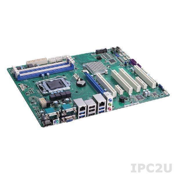 IMB211VGGA Процессорная плата ATX Socket LGA1150 Intel Core i7/i5/i3/Celeron, Intel Q87 PCH, 4x DDR3-1333/1600, VGA, Display Port, HDMI, 5x SATA-600, mSATA, 1x PCIe x16, 1x PCIe x4, 1x PCIe x1, 4xPCI, 10xUSB 2.0, 4xUSB 3.0, 2xGbit LAN, Audio