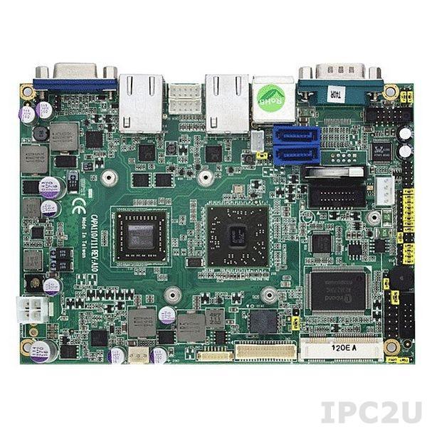 """CAPA111VGGA-T40R Процессорная плата формата 3.5"""" с AMD APU G-Series T40R 1.0 ГГц, чипсет A50M, DDR3, LVDS/VGA, 2xLAN, 4xCOM, 6xUSB, Audio"""