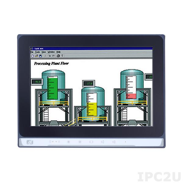 """P6103WPC-24VDC-U 10.1"""" TFT монитор, яркость 350, 1280x800, емкостный сенсорный экран, 1xUSB, 1xVGA, 1xDVI-D, 1xHDMI, питание 24 В DC"""