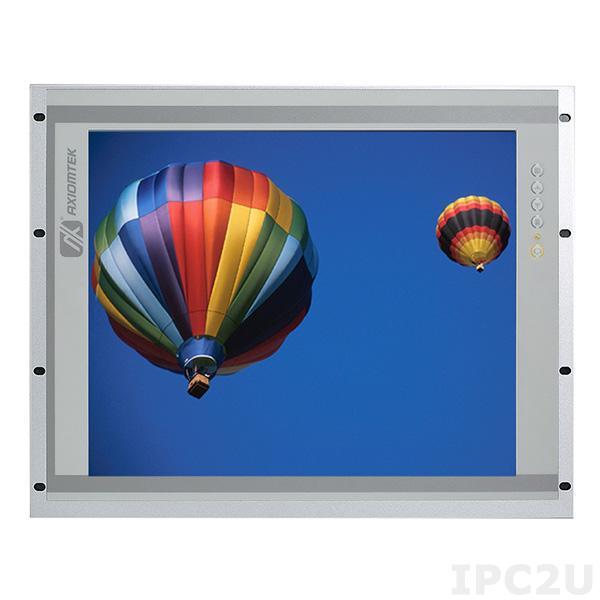 """P6191PR-24VDC-U-E 19"""" TFT монитор, яркость 350 нит, 1280x1024, резистивный сенсорный экран (USB), 1xVGA, 1xDVI, 1xHDMI, питание 24В DC, IP65 (NEMA4/12) по передней панели, рабочая температура от -20C"""