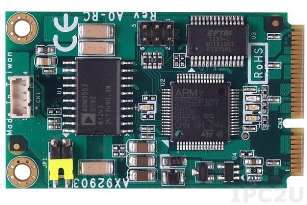 AX92903 Полноразмерный модуль Mini PCI Express CAN BUS 1 порт DB9, питание 5В, с брекетом и кабелем (DB9)