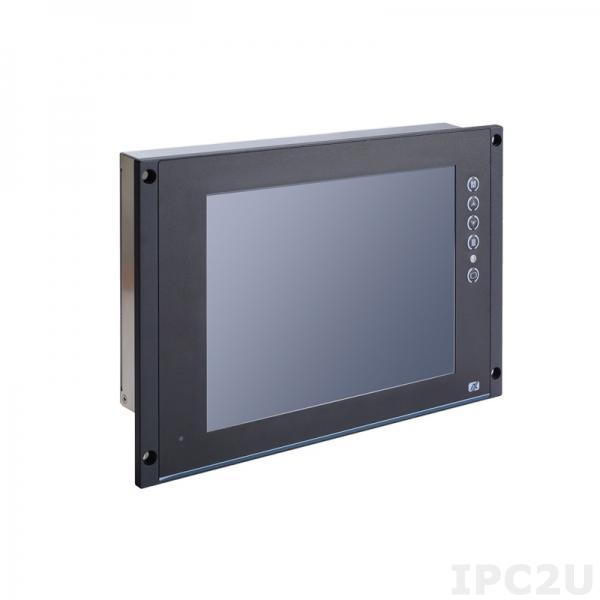 """P6105PR-24VDC w/VGA 10.4"""" TFT монитор для железнодорожного применения, яркость 500 нит, 1024x768, резистивный сенсорный экран (RS-232), HDMI, DVI-D, RS-232 для IR дистанц. управления, питание 24В DC"""