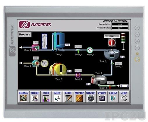 "P1177S-871 Панельная рабочая станция с 17"" TFT LCD, сенсорный экран, алюминиевая передняя панель IP65, Intel Core i7/ i5/ i3/ Pentium/Celeron, Intel Q77 PCH, DDR3, DVI-I/HDMI, 2xGb LAN, 4xCOM, 4xUSB 3.0, 2xUSB 2.0, Audio, 1x3.5"" или 2x2.5"" SATA HDD"