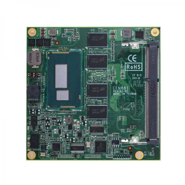 CEM881PG-i3-4010U Процессорная плата COM Express Type 6 с Intel Core i3-4010U 1.7ГГц, DDR3L RAM , DDI/LVDS, GbE LAN, USB 3.0, TPM