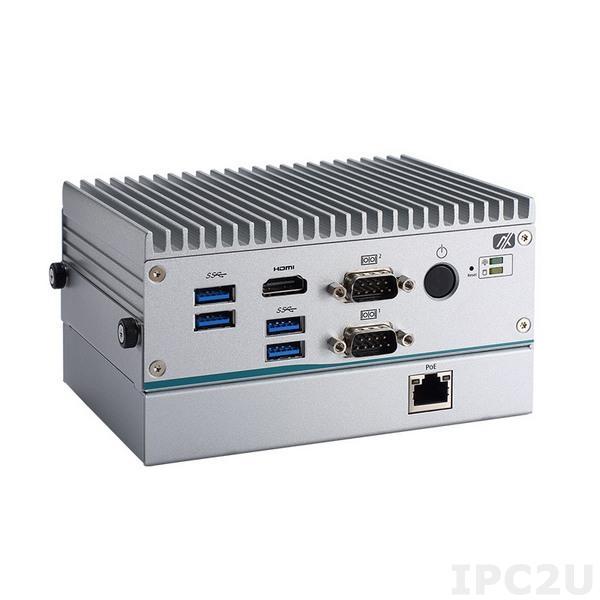 """eBOX565-312-N3350-POE-EU Безвентиляторный встраиваемый компьютер с Intel Celeron N3350 1.1ГГц, DDR4, 2xHDMI, 1x GbE LAN, 1x PoE IEEE802.3AF, 2x RS-232/422/485, 4x USB 3.0, отсек 1x 2.5"""" SATA HDD, 1x mSATA, 1x Mini-PCIe, питание 12В DC"""