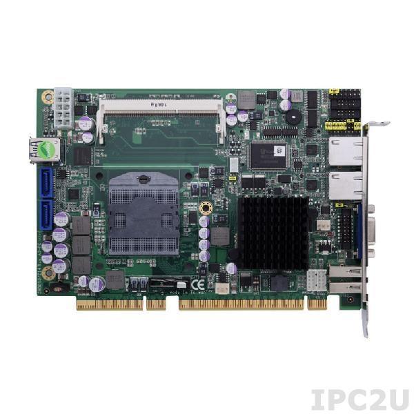 SHB213VGG-HM65 Процессорная плата PICMG 1.3, Socket G2, Intel Core i7/i5/i3/Celeron, Intel HM65, 1x 204-pin SO-DIMM DDR3-1066/1333, 1x VGA, 2x SATA-600, 2x COM, 6x USB 2.0, 2x USB 3.0, 2xGbit LAN, Audio