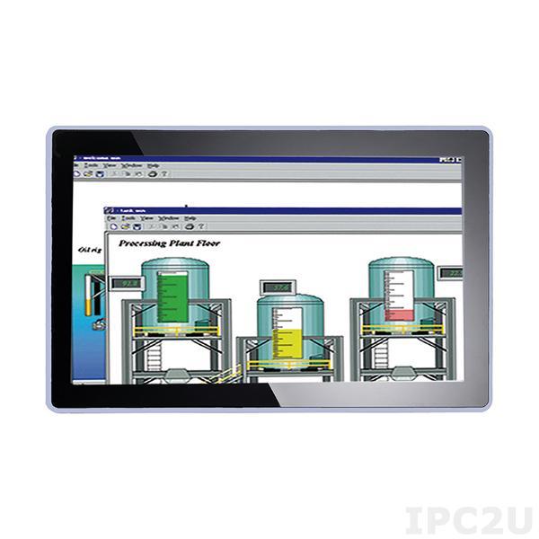"P6157WPC-24VDC-U-V2 15.6"" TFT монитор, яркость 300, 1366x768, 1xVGA, 1xRCA, 1xS-Video, 1xDVI, питание 24 В DC"