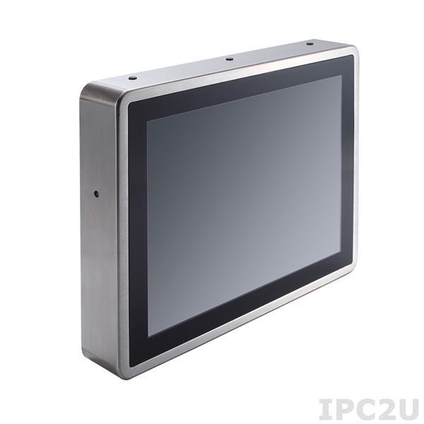 """GOT-817-834-R-DC Защищенный безвентиляторный панельный компьютер, корпус IP66, 17"""" XGA дисплей 350 нит, резистивный сенсорный экран, Intel Atom E3827 1.75ГГц, 1x204-pin DDR3L, 1x2.5"""" SSD, 1xCF слот, 2xCOM, 4xUSB 2.0, 1xGbe LAN, 2xPCle Mini Card, питание 9-36В DC"""