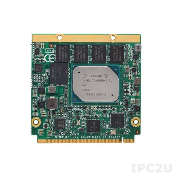Q7M310-E3940+4GB(IND.) Процессорная плата Q7 с процессором Intel Atom x5-E3940, 4Гб RAM, DDI/LVDS, GB LAN, COM, 2xUSB 3.0, 4xUSB 2.0, 2xSATA-600, GPIO, 4xPCIe x1, -40...+85C