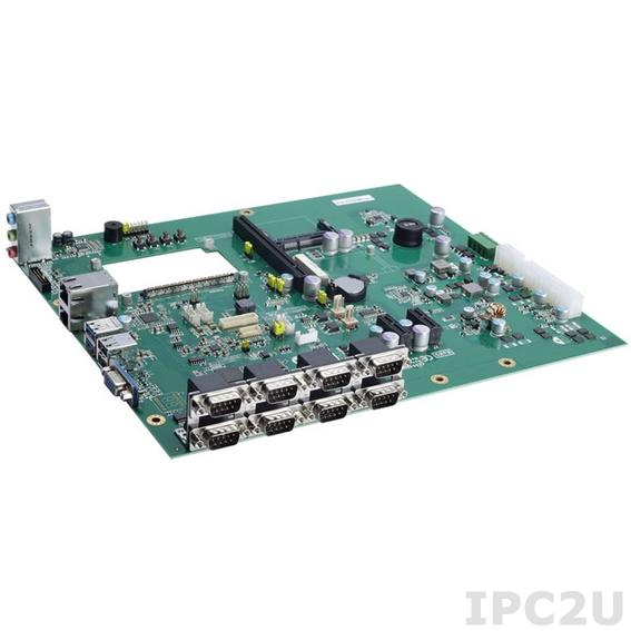 CEB94008 Базовая плата для модулей COM Express Type-10 с VGA, LVDS, DDI, 6xCOM, 1xSATA, 1xCFast, 2xGLAN, HD Audio, 8xUSB 2.0, 1xUSB 3.0, DIO, 2xTX/RX UARTs, 2xPCIex1, 1xMini-PCIe , 244 x 291 мм