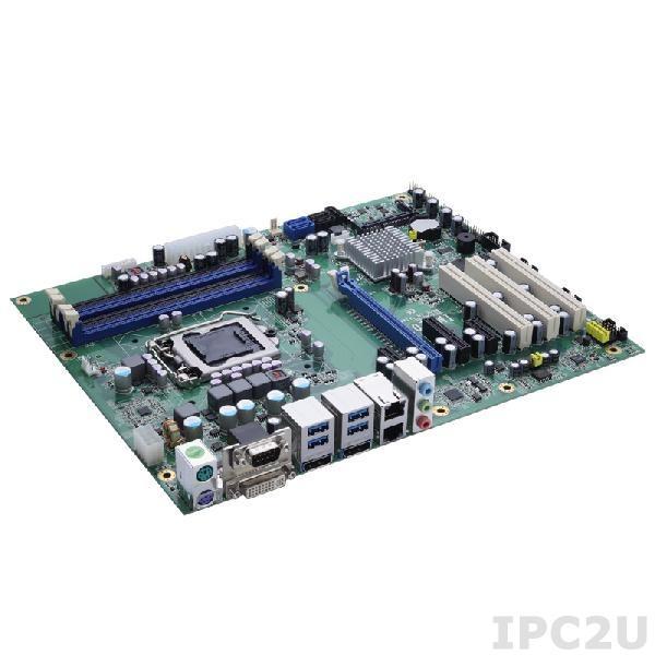 IMB207DGGA Процессорная плата ATX Socket LGA1155 Intel Core i7/i5/i3/Celeron, Intel Q77 PCH, 4x 240-pin DIMM DDR3-1333/1600, 2x SATA-600, 4x PCIe, 3x PCI, 4x USB 3.0, 8x USB 2.0, 2xGigabit LAN, Audio