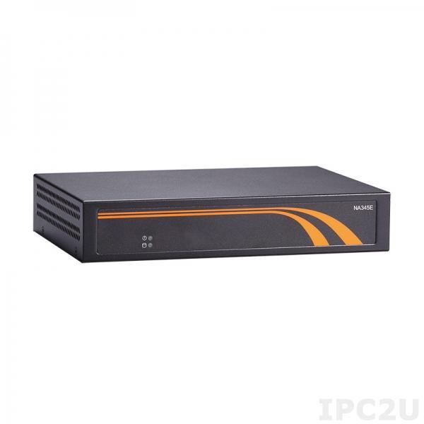 NA345E-D3GI-N3350-US w/o LBP Компактная 1U платформа для систем сетевой безопасности с Intel Celeron N3350, DDR3L, 3xGbE LAN, mSATA, 1xRS-232, 3xUSB 2.0