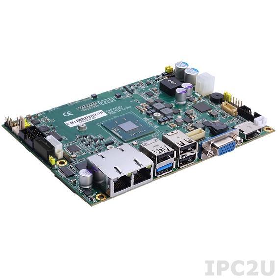 """CAPA840VHGGA-E3845 Процессорная плата формата 3.5"""" с Intel Atom E3845 1.9ГГц, DDR3L SO-DIMM, VGA/LVDS/HDMI, 2xLAN, 2xCOM, 4xUSB 2.0, 1xUSB 3.0, Audio"""