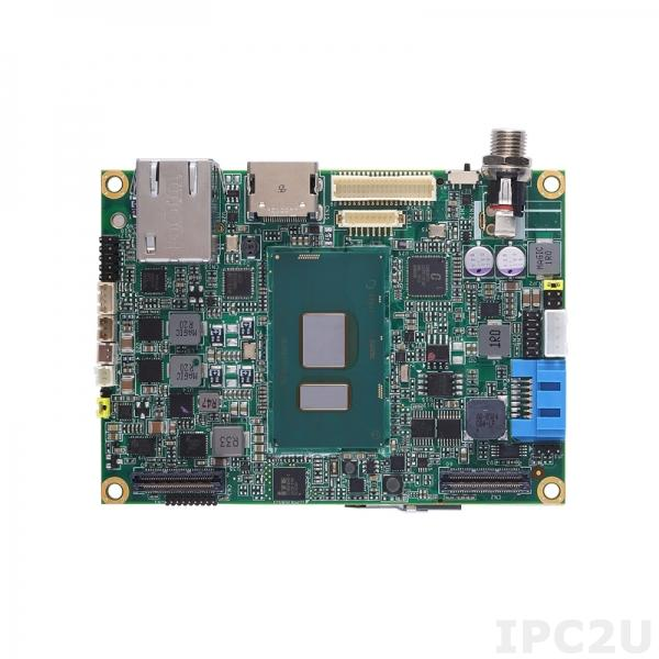 PICO512HG-i3-7100U Процессорная плата Pico-ITX с процессором 7-го поколения Intel Core i3-7100U, DDR4 RAM, HDMI/LVDS, Gigabit Ethernet, 1xUSB 2.0, 1xSATA-600, Audio, +12V DC-in, -20...+70C