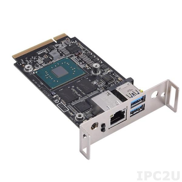 SDM300S-N3350-4GB Цифровая информационная система с Intel Celeron N3350 1.1ГГц, 4Гб LPDDR4, 64Гб eMMC Flash, SDM Edge разъем (PCIe x8, 1xUSB 3.0, 1xHDMI 1.4, DP 1.2, Tx/Rx, 2xI2C), 1xGbE LAN, 2xUSB 3.0, M.2 Key-E