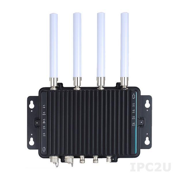 eBOX800-900-FL-NP Защищенный встраиваемый компьютер с IP67,NVIDIA JETSON TX2, HMP dual denver 2/2 MB L2+quad ARM A57/2 MB L2 процессор, NVIDIA Pascal граф.процессор, 256 CUDA ядер, 8Гб LPDDR4, HDMI, 1xGbE LAN, 1xPoE GbE LAN, 1xUSB 2.0, питание 100...240В AC, -30...60C