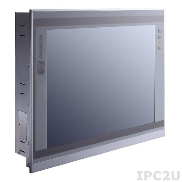"GOT-3126T-834-DC Безвентиляторный панельный компьютер, 12.1"" XGA дисплей, резистивный сенсорный экран, Intel Atom E3827 1.75ГГц, 1x204-pin DDR3L SO-DIMM, 1x2.5"" SATA HDD bay, 1xCFast, 3xCOM, 4xUSB, 2xLAN, VGA, 2xPCIe Mini, питание 9-36В DC, -20C ~ +55C"