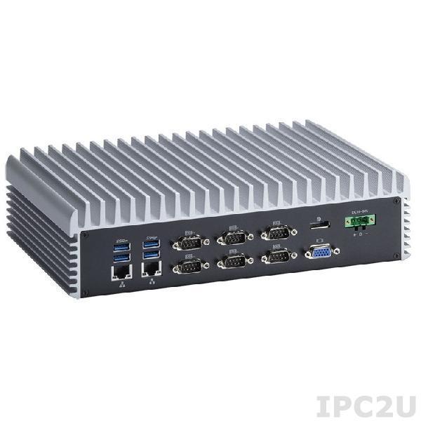 """eBOX670-883-FL-i5-8GB-PA Встраиваемый компьютер, i5-4590T 2ГГц, 8Гб DDR3, 6x RS-232/422/485 (COM1 ~ 6), 4 x GbE, 6xUSB 3.0, отсек для накопителя 2x2.5"""", 1 x Audio, 1 x VGA, 2 x HDMI,1 x DisplayPort, 1 x mSATA, 1 x CFast slot, адаптер питания 24В 70Вт"""