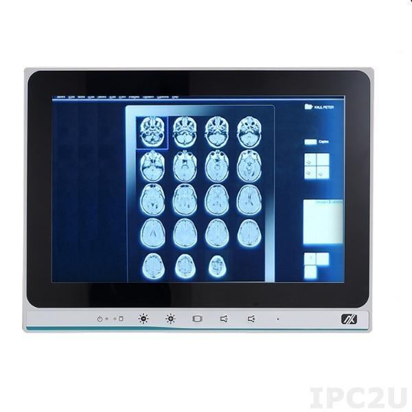 "MPC103-845-DC Безвентиляторная медицинская панельная рабочая станция 10.1"" TFT LCD, резистивный сенсорный экран, Intel Celeron N3060, 1xDDR3L SO-DIMM, SATA Half-Slim, 2xCOM, 2xUSB 2.0, 2xUSB 3.0, 2xGbE LAN, 2xPCIe Mini, Аудио, питание 9...36В DC"