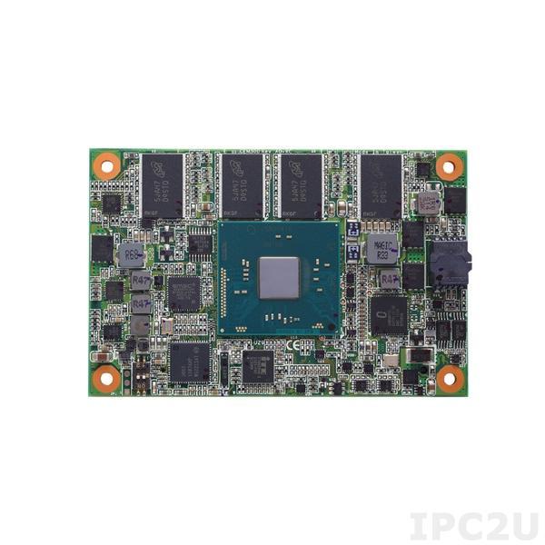 CEM300PG-N3710-4G w/HS Процессорная плата COM Express Type 10 с Intel Pentium N3710 1.6ГГц, 4Гб DDR3L RAM, DDI, LVDS, GB LAN, 2xUSB 3.0, 8xUSB 2.0, 4xPCIe, 2xSATA-600, Audio, с радиатором охлаждения