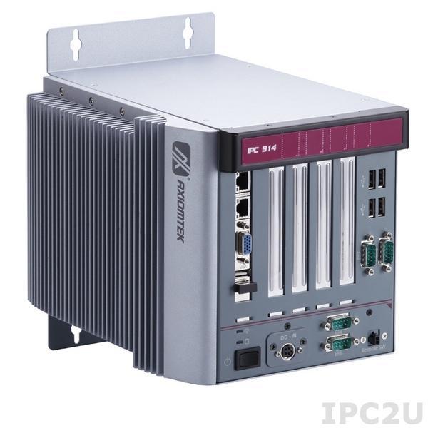 IPC914-213-FL-DC-HAB104 Многослотовый встраиваемый компьютер с Intel Core i7/ i5/ i3, до 2.5ГГц, Intel HM65 чипсет, 4хPCI, ATX DC-IN 150Вт P/S, 10...30VDC