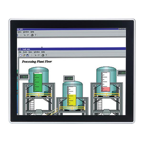 """GOT-317-502-FR-DC Безвентиляторный панельный компьютер 17"""" SXGA, резистивный сенсорный экран, поддержка Intel Core i7/i5/i3/Pentium/Celeron, DDR4, HDMI/VGA/DP, 2.5"""" SATA HDD, mSATA, 2xLAN, 2xCOM, 4xUSB 3.0, 2xPCIe Mini, Audio, пит. DC, IP65/NEMA4 по передней панели"""