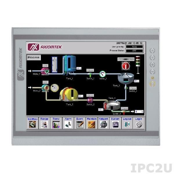 """P1127E-871 w/PCI Панельная рабочая станция с 12.1"""" XGA TFT LCD, резистивный сенсорный экран, сокет LGA1155 для Intel Core i7/ i5/ i3/Pentium/Celeron/Xeon, DDR3, 2xEthernet, 4хUSB 3.0, 2хUSB 2.0, 3хCOM-порта, 2xPCI, динамики, IP65 по передней панели"""