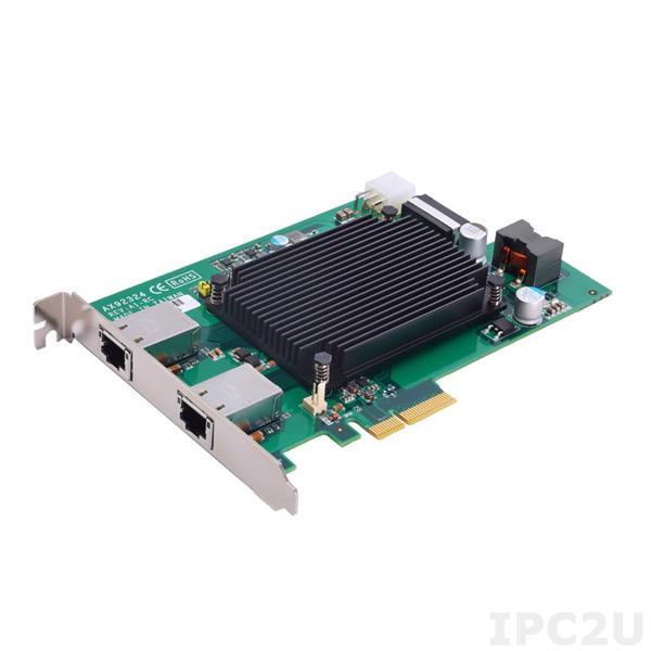 AX92324-PoE 2-портовая плата захвата изображения, шина PCI Express, X550-AT2 контролер, интерфейс 10 GigE PoE, 6-pin ATX доп питание