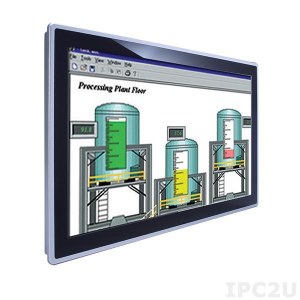 "GOT-3217WL-845-PCT-J Безвентиляторный панельный компьютер 21.5"" FHD TFT, емкостный сенсорный экран, Intel Pentium N3710 1.6ГГц, 1x204-pin DDR3L-1333/1600 SO-DIMM, 1x2.5"" SATA HDD, mSATA, 2xCOM, 4xUSB, 2xGbE LAN, Аудио, 2xMini PCIe, адаптер питания AC DC 60Вт"