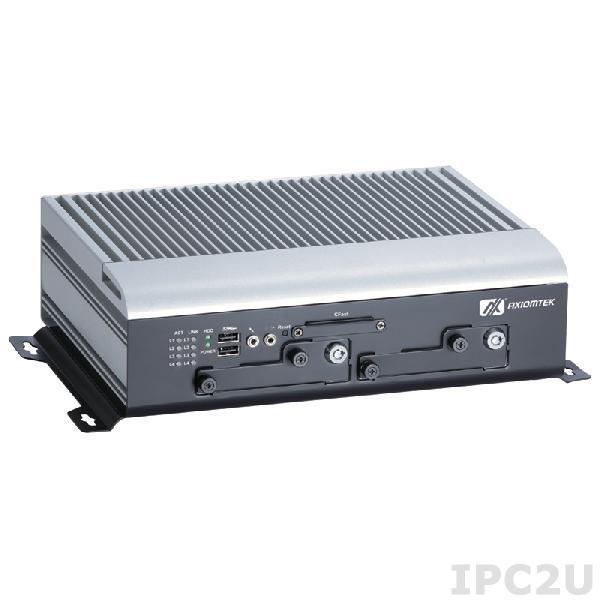 "tBOX321-870-FL-i3-DC Безвентиляторный транспортный встраиваемый компьютер с Intel Core i3-3217UE 1.6ГГц, 4Гб DDR3, VGA, DVI, 4xGbE, 4x изолированных RS232/422/485, 1x изолированный DI/O, 4xUSB, 2xAudio, 3xMiniPCIe, 1xSIM, CFast, 2x2.5"" SATA HDD, 14...32В DC"